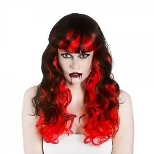 Bilde av Vampyr parykk rød/svart