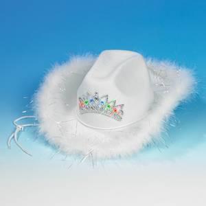 Bilde av Hvit cowboyhatt