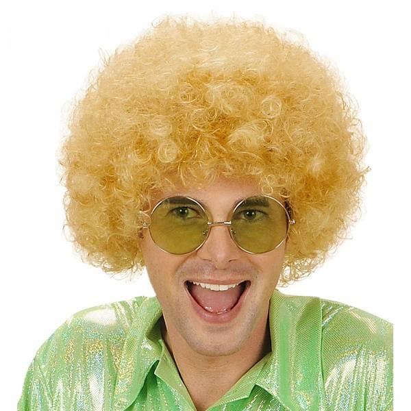 Blond afro parykk