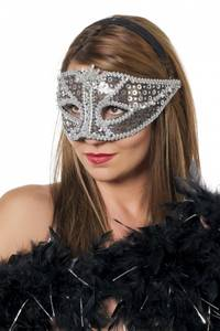 Bilde av Silver Venetian Maske