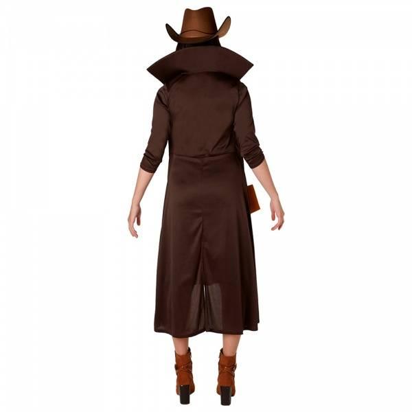 Gunslinger Lady kostyme inkl. hatt