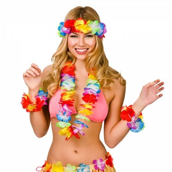 Hawaii Blomsterkranse sett