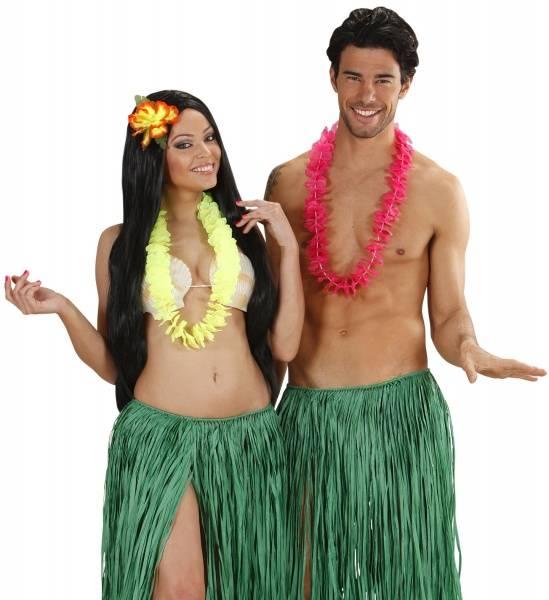 Hawaii krans neon gul