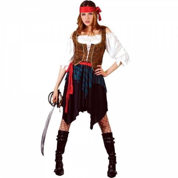 Caribbean Pirate Lady kostyme