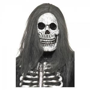 Bilde av Skjelett maske med hår