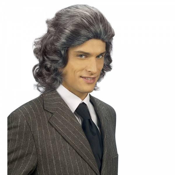 Frankie grå parykk