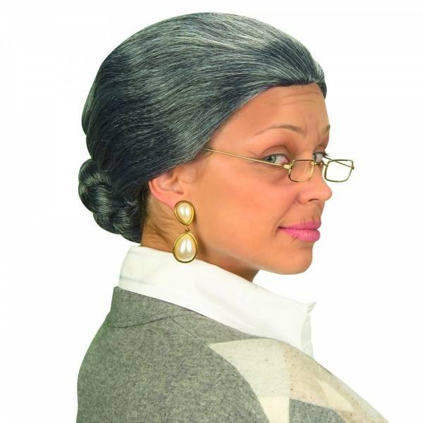 Grå Granny parykk
