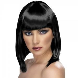 Bilde av Glam sort parykk