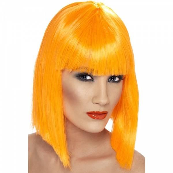 Glam orange parykk