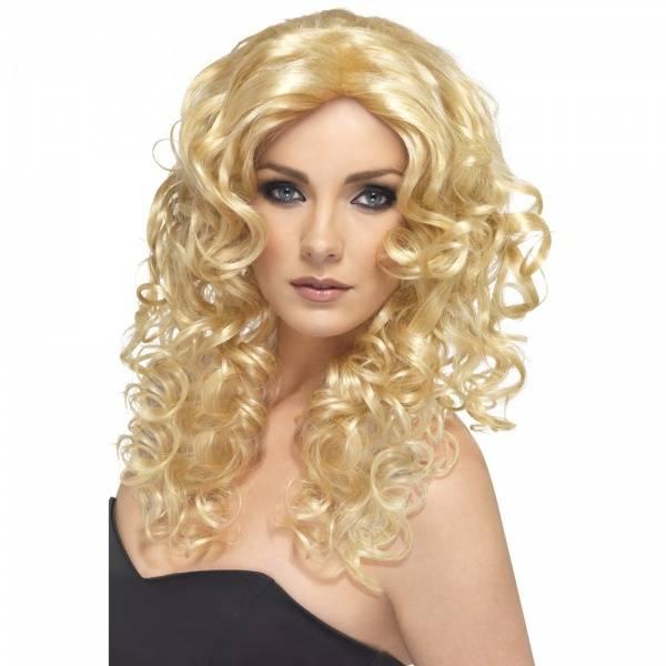Glamour blond parykk