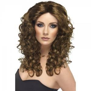 Bilde av Glamour brun parykk