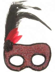 Bilde av Red & Black Carnival Maske