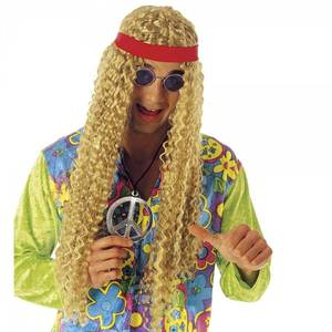 Bilde av Hippie parykk m. krøller