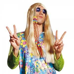 Bilde av Blond Hippie parykk m. perler