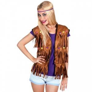 Bilde av Hippie vest med perler -