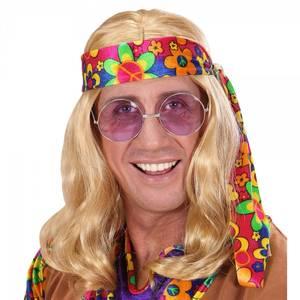 Bilde av Blond Hippie parykk