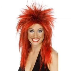 Bilde av Rock Diva rød parykk