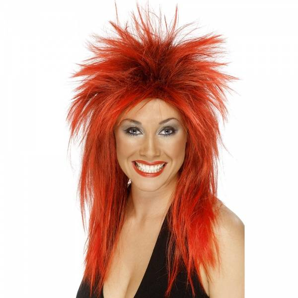 Rock Diva rød parykk