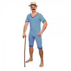 Bilde av Stripete badedrakt blå -