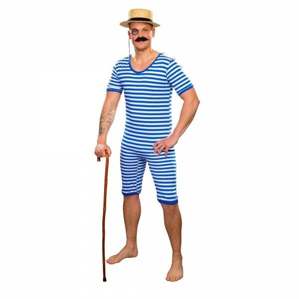 Stripete badedrakt blå - kostyme