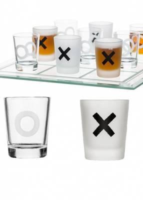 shotglass 9stk på bondesjakkbrett 5016681 firmagaver