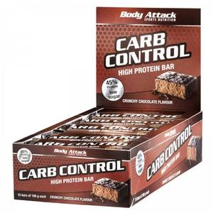 Bilde av Body Attack Carb Control Protein Bar 100g, Crunchy Chocolate 15-