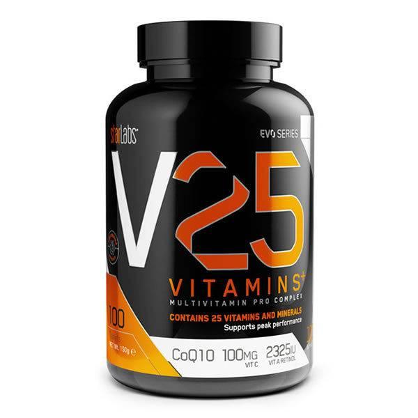 Starlabs V25 Vitamins+ 100 tabletter