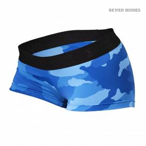 Bilde av Better Bodies Fitness Hot Pant - Blue Camo S - 1 STK