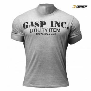 Bilde av Gasp Basic Utility Tee - Greymelange 3XL