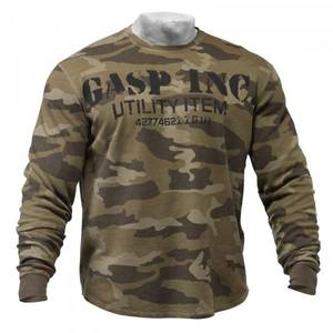 Bilde av Gasp Thermal Gym Sweater - Green Camo M