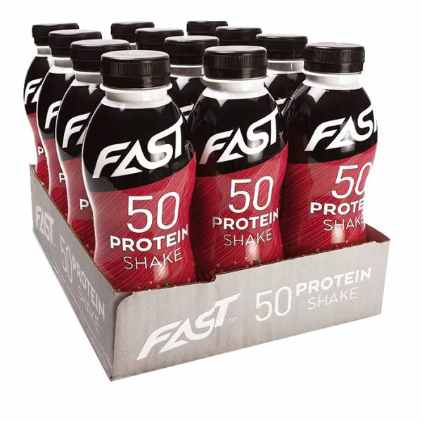 Bilde av FAST Protein 50 shake - 500ml x 12stk - Strawberry