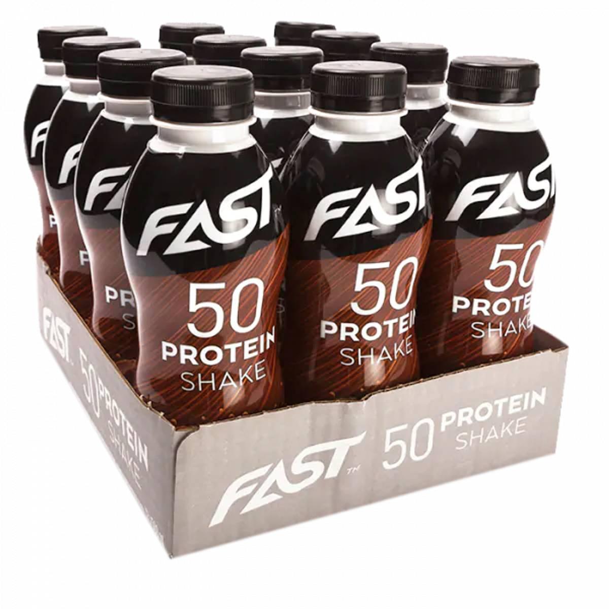 FAST Protein 50 shake - 500ml x 12stk - Chocolate