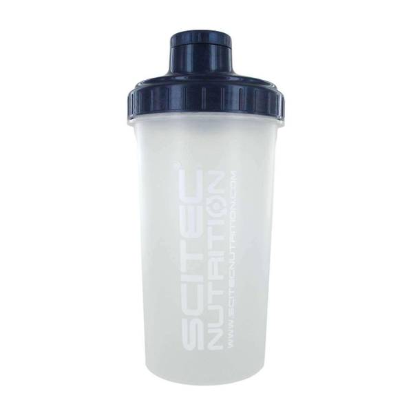 Bilde av Shaker Scitec 700ml - Transparent/white text