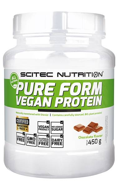 Bilde av Pure Form Vegan Protein 450g, Chocolate
