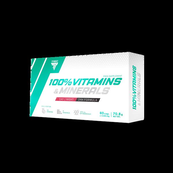 Bilde av 100% Vitamins & Minerals - 60 kapsler