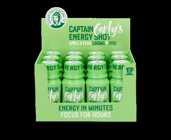 Bilde av Captain Carly's Energy Shot, 60mlx24stk, Apple & Pear Flavour