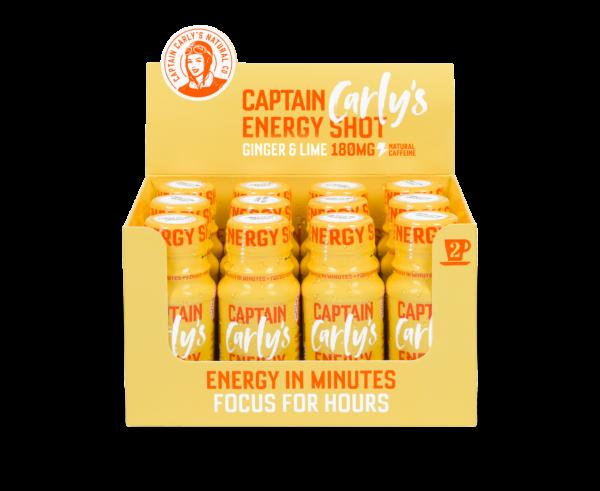 Bilde av Captain Carly's Energy Shot, 60mlx24stk, Ginger & Lime Flavour