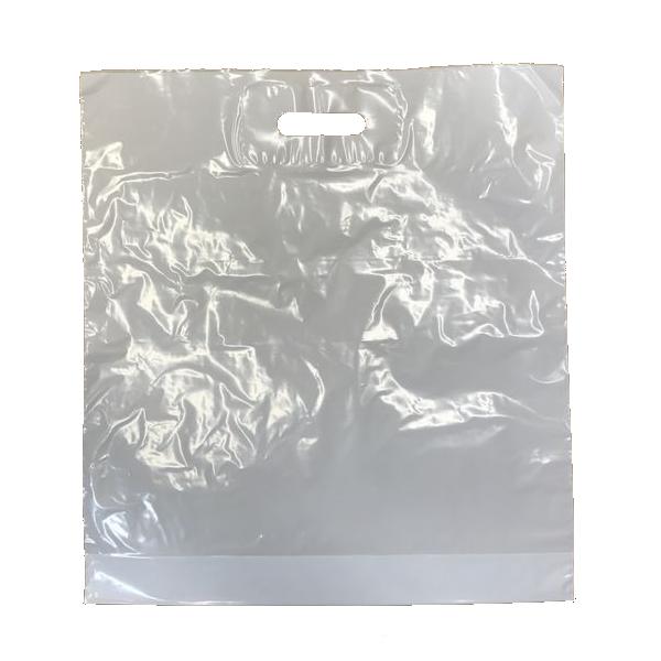 Bilde av Bærepose M, white, 35my, 44x49+4cm 500stk