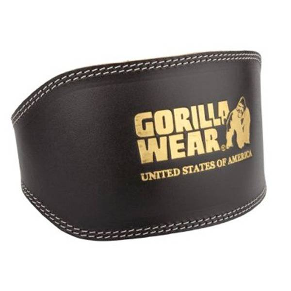 Bilde av Leather padded belt (15cm), Black/Gold