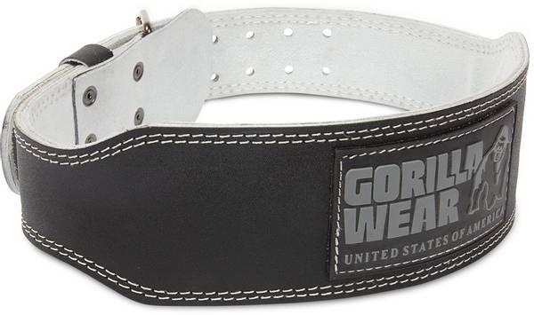 Bilde av Leather padded belt (10cm), Black/Gray