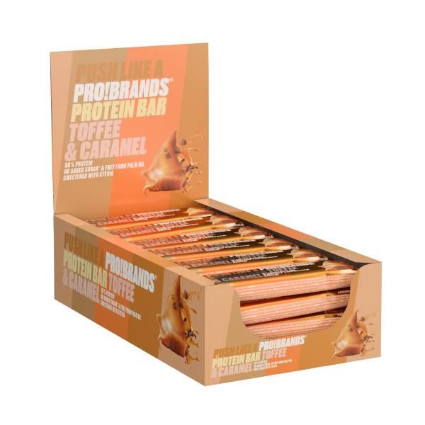 Bilde av ProteinPro Bar 45g x 24stk - Toffee/Caramel