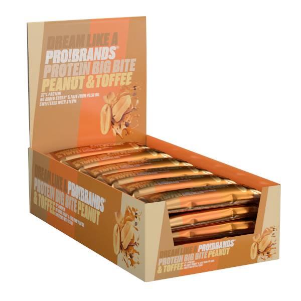 Bilde av ProteinPro Bar BigBite 45g x 24stk - Peanut/Toffee