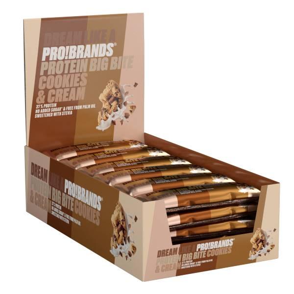 Bilde av ProteinPro BigBite 45g x 24stk - Cookies & Cream