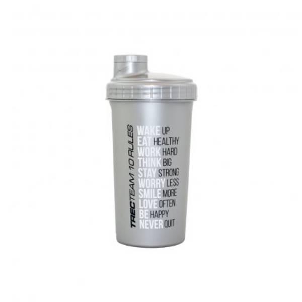Bilde av Shaker Trec 020 - 0,7L Silver w/Black top/lid - #TRECTEAM 10 RUL