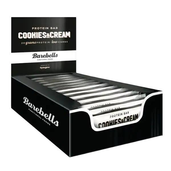 Bilde av Barebells Protein Bar 12stk - 55g - Cookies & Cream
