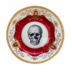 Bilde av Asjett rød skull