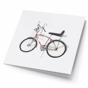 Bilde av små kunstkort med apasjesykkel