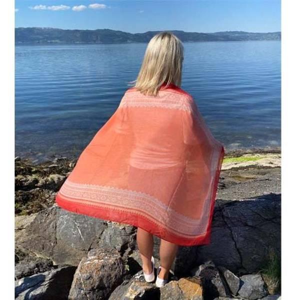 Image of Marius® scarf, corall/wht
