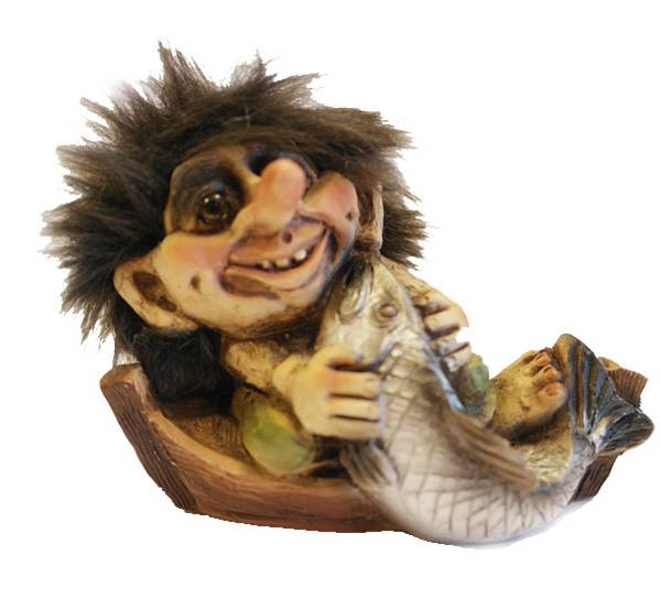 Image of Fishing in the boat(Troll # 028)