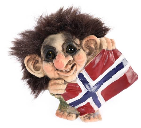 Image of Troll holding flag, (Troll # 024)